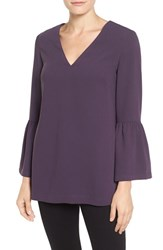 Halogenr Women's Halogen Bell Sleeve Tunic Purple Night