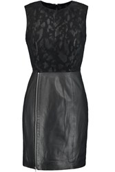 Muubaa Suede And Leather Dress Black
