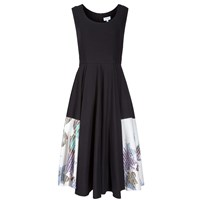 Tanya Elizabeth Lucy Black Fit And Flare Black White Blue