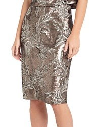 Phase Eight Patientia Sequined Pencil Skirt Bronze