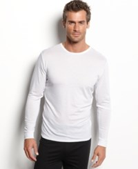 32 Degrees Heat By Weatherproof Thermal Long Sleeve Crew White