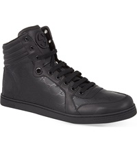 Gucci Coda Shiny Logo High Tops Black