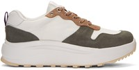 Eytys White And Khaki Jet Combo Sneakers