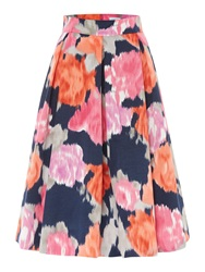 Untold Oversize Floral Print Skirt Multi Coloured