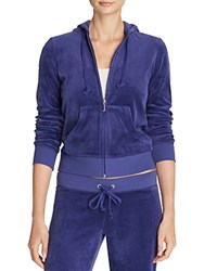 Juicy Couture Sport Black Label Robertson Velour Zip Hoodie In Starless Sky Blue 100 Bloomingdale's Exclusive