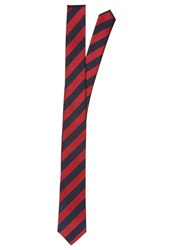 Pier One Tie Red Navy