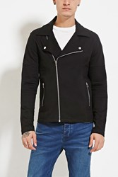 Forever 21 Quilted Moto Jacket Black