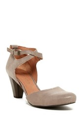 Gentle Souls By Kenneth Cole Raven Ankle Strap Pump Brown