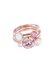 Ted Baker Jackie Rose Gold Jewel Stack Ring N A N A