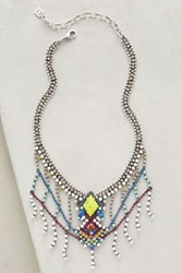 Anthropologie Tali Bib Necklace Silver
