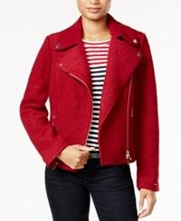 Tommy Hilfiger Payton Moto Jacket Only At Macy's Biking Red