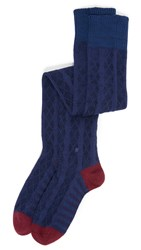 Stance Over The Knee Fine Line Socks Navy