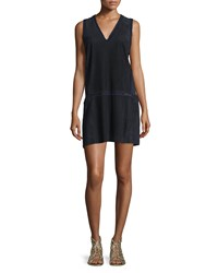 Joie Bailee Crochet Trim Shift Dress Caviar