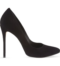 Reiss Mae Suede Courts Black