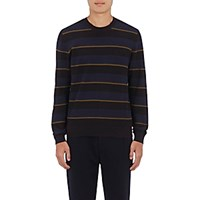 Paul Smith Ps By Men's Shadow Striped Cotton Sweater Navy