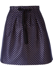 L'autre Chose Polka Dot Skirt Blue