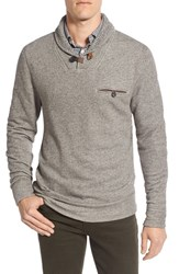 Billy Reid Men's 'Shiloh' Shawl Collar Sweatshirt Brown Melange