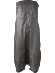 Rick Owens Drkshdw Short Strapless Jumpsuit Grey