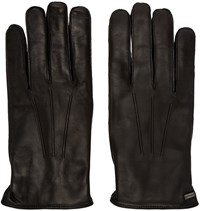 Dolce And Gabbana Black Lambskin Gloves