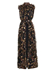 Chloe Paisley And Star Ruffled Gown