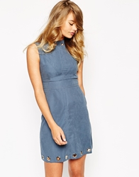 Sister Jane Twilight Warrior Dress With Eyelet Detail Blue