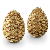 L'objet Pinecone Salt And Pepper Shakers Gold