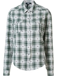 Paige Checked Shirt Green