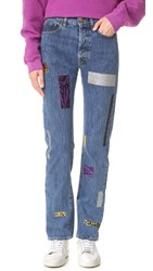 Aries Geo Taped Lily Jeans Blue