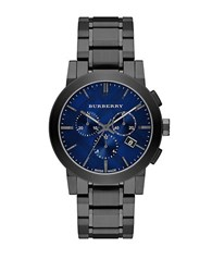Burberry Mens Brushed Grey Chronograph Watch