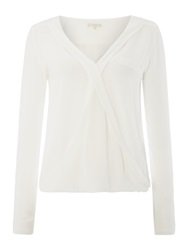 Salsa Longsleeve Front Crossover Top White