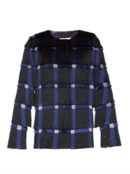 Marco De Vincenzo Checked Fringed Jacket