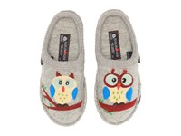 Haflinger Olivia Silver Grey Owl Women's Slippers Gray