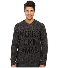 French Connection Fcuk Xmas Knits Sweater Charcoal Melange Black Men's Sweater