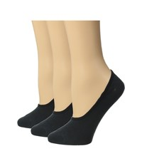 Sperry Canoe Liner Solid 3 Pack Black Women's No Show Socks Shoes