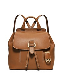 Michael Michael Kors Romey Medium Leather Backpack Acorn