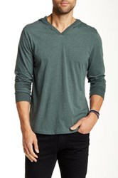 Threads For Thought V Neck Hoodie Green