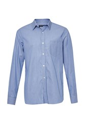 French Connection Fine Striped Connery Shirt Blue
