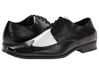 Stacy Adams Atticus Black And White Leather Men's Shoes