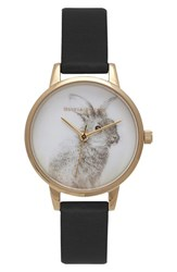 Women's Olivia Burton 'Woodland Bunny' Faux Leather Strap Watch 30Mm