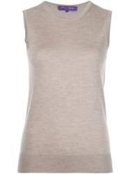 Ralph Lauren Black Label Sleeveless Sweater Nude And Neutrals
