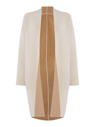 Max Mara Egizio Knitted Wool Coat Cream