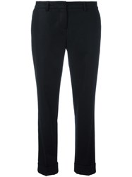 Boglioli Tailored Cropped Trousers Black