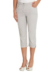 Betty Barclay Cropped Five Pocket Jeans Light Silver