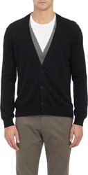 Tomas Maier Double Layer Cashmere Cardigan Black Size Xs