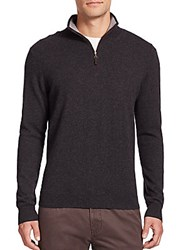 Saks Fifth Avenue Cashmere Zip Front Sweater Red