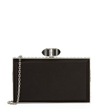 Judith Leiber Satin Coffered Rectangle Clutch Female