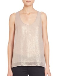 Joie Mirla Metallic Silk Tank Metallic Gold