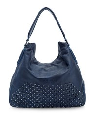 Liebeskind Yokohama Double Dye Studded Hobo Bag Indigo Blue