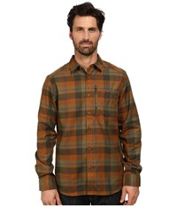 Fjall Raven Fjallglim Shirt Chestnut Men's Long Sleeve Button Up Brown