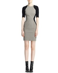 Stella Mccartney Contour Colorblock Houndstooth Dress Black White